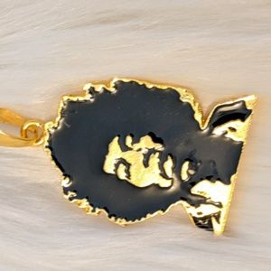 Accessories - Hip Hop Gold Plated Jimi Pendant